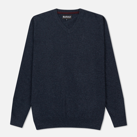 Мужской свитер Barbour Essential Lambswool V-Neck Indigo