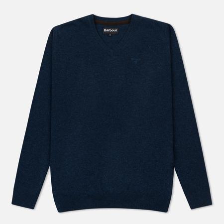 Мужской свитер Barbour Essential Lambswool V Neck Sea Blue