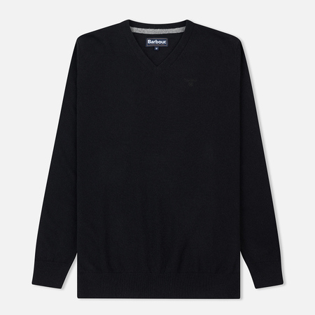 Мужской свитер Barbour Essential Lambswool V-Neck New Black