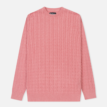Мужской свитер Barbour Fowey Cable Crew Pink