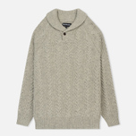 Мужской свитер Barbour Galloway Cable Shawl Neck Fog фото- 0