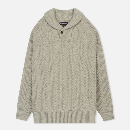 Мужской свитер Barbour Galloway Cable Shawl Neck Fog