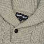 Мужской свитер Barbour Galloway Cable Shawl Neck Fog фото- 1