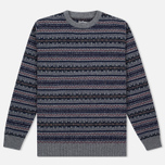 Мужской свитер Barbour Harvard Fairisle Crew Neck Grey Marl фото- 0