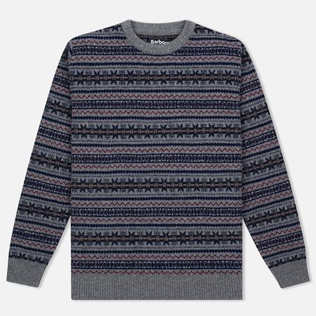 Мужской свитер Barbour Harvard Fairisle Crew Neck Grey Marl