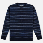 Мужской свитер Barbour Harvard Fairisle Crew Neck Navy фото- 0