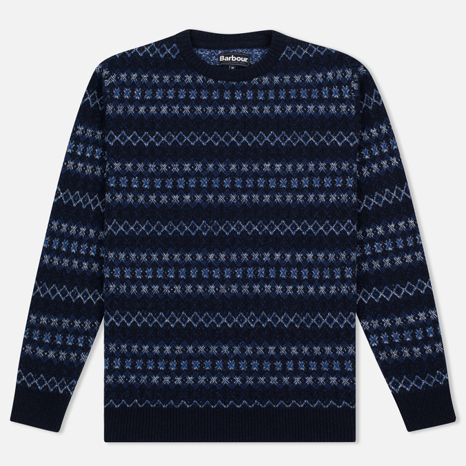 Мужской свитер Barbour Harvard Fairisle Crew Neck Navy