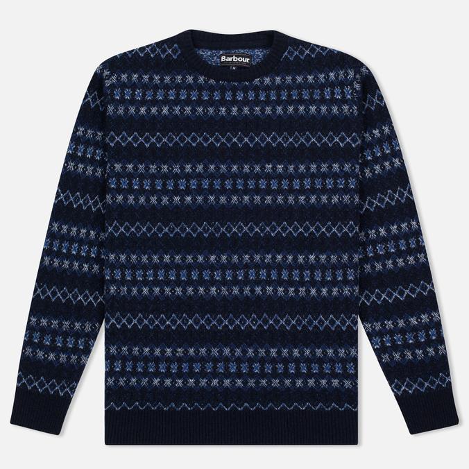 Мужской свитер Barbour Harvard Fairisle Crew Neck Navy
