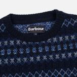 Мужской свитер Barbour Harvard Fairisle Crew Neck Navy фото- 1