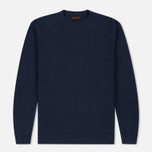 Мужской свитер Barbour Heritage Bearsden Crew Neck Navy Marl фото- 0