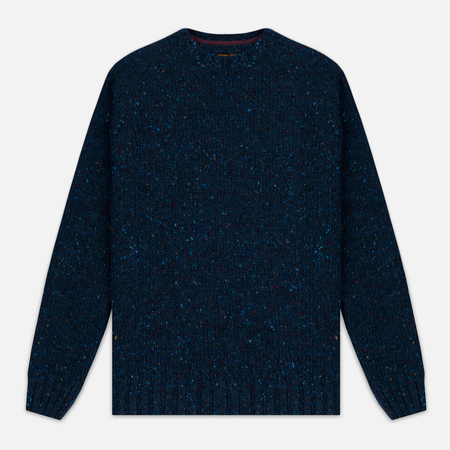 Barbour Heritage Netherby Crew Neck Men's Sweater Blue
