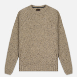 Barbour Heritage Netherby Crew Neck Men's Sweater Fog photo- 0