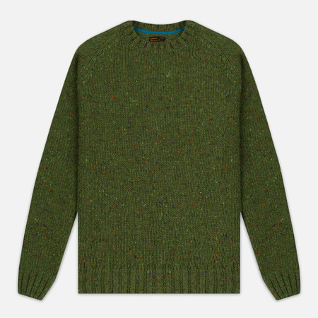 Barbour Heritage Netherby Crew Neck Men's Sweater Green