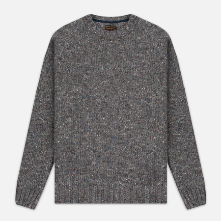 Barbour Heritage Netherby Crew Neck Men's Sweater Grey