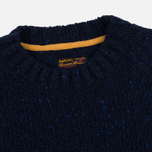 Barbour Heritage Netherby Crew Neck Men's Sweater Navy photo- 1