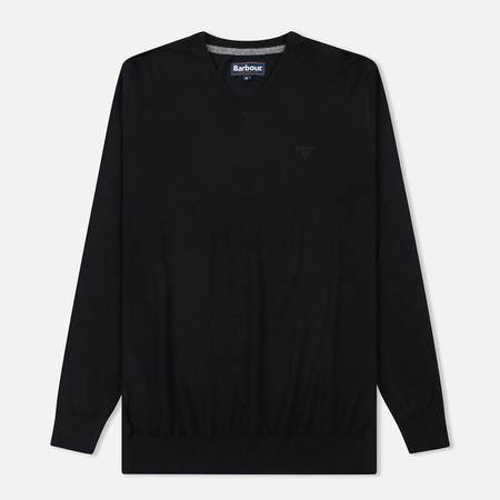 Мужской свитер Barbour Merino V-Neck Black