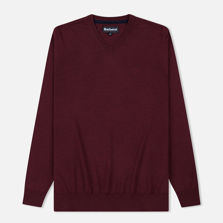 Мужской свитер Barbour Merino V-Neck Merlot