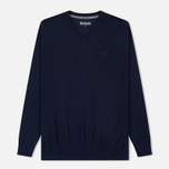 Мужской свитер Barbour Merino V-Neck Navy фото- 0