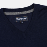 Мужской свитер Barbour Merino V-Neck Navy фото- 1