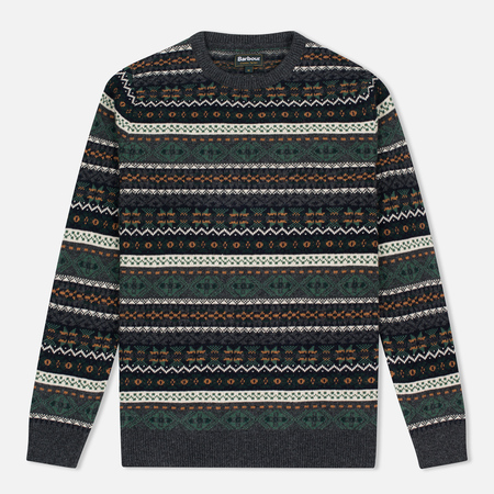 Мужской свитер Barbour Orford Fair Isle Crew Charcoal