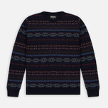 Мужской свитер Barbour Orford Fair Isle Crew Navy фото- 0