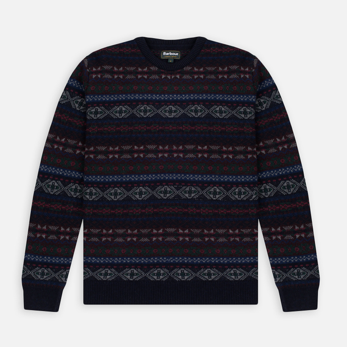 Мужской свитер Barbour Orford Fair Isle Crew Navy