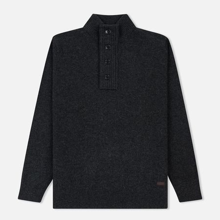 Мужской свитер Barbour Patch Half Zip Charcoal