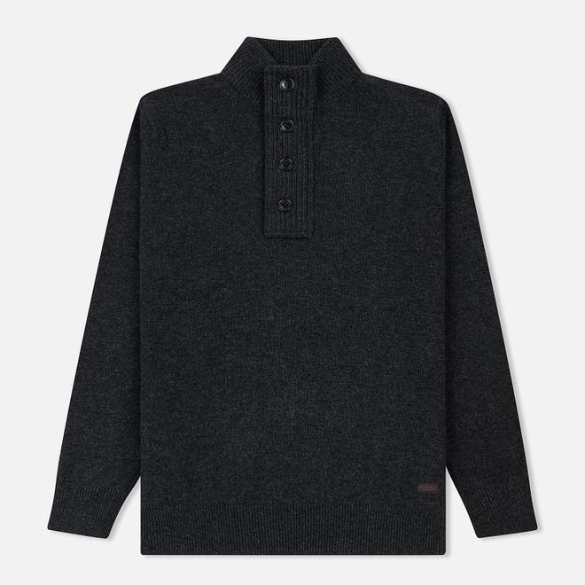 Мужской свитер Barbour Patch Half Zip Charcoal