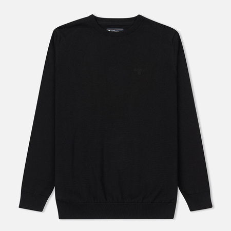 Мужской свитер Barbour Pima Cotton Crew Neck Black