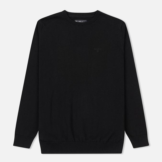 Мужской свитер Barbour Pima Cotton Crew Neck Black