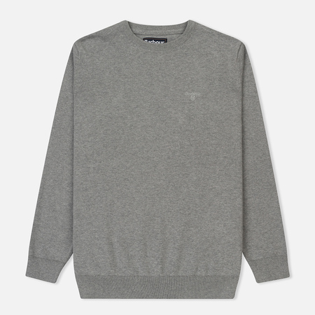 Мужской свитер Barbour Pima Cotton Crew Neck Grey