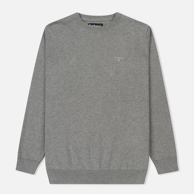 Мужской свитер Barbour Pima Cotton Crew Neck Grey