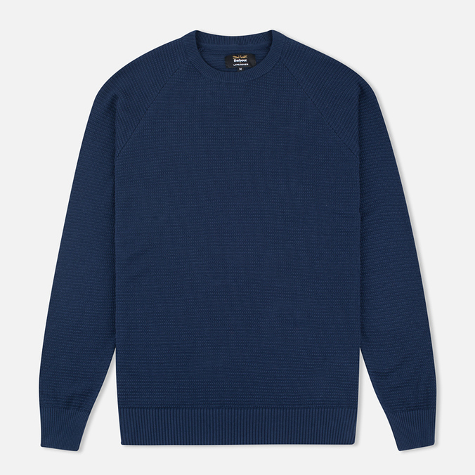 Barbour x Land Rover Chaser Crew Men's Sweater Neck Navy