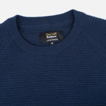 Barbour x Land Rover Chaser Crew Men's Sweater Neck Navy photo- 1