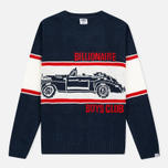 Мужской свитер Billionaire Boys Club Car Crew Neck Navy/White фото- 0