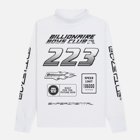 Мужской лонгслив Billionaire Boys Club Multi Logo White