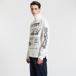 Мужской лонгслив Billionaire Boys Club Multi Logo White фото- 2