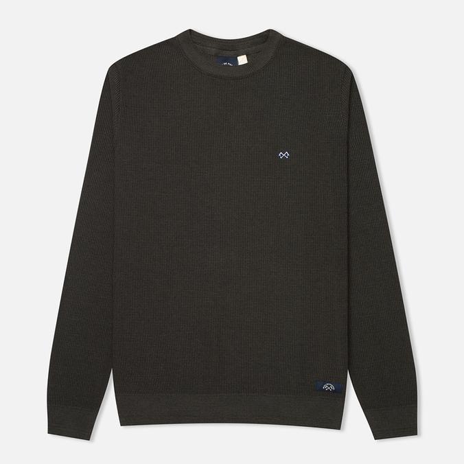 Bleu De Paname Tricot Nid D'Abeille Men's Sweater Anthracite