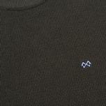 Bleu De Paname Tricot Nid D'Abeille Men's Sweater Anthracite photo- 2