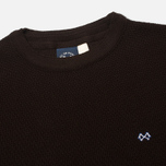 Bleu De Paname Tricot Nid D'Abeille Men's sweater Brun photo- 1