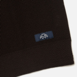 Bleu De Paname Tricot Nid D'Abeille Men's sweater Brun photo- 3