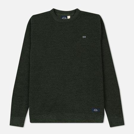 Мужской свитер Bleu De Paname Tricot Nid D'Abeille Wool Green Forest