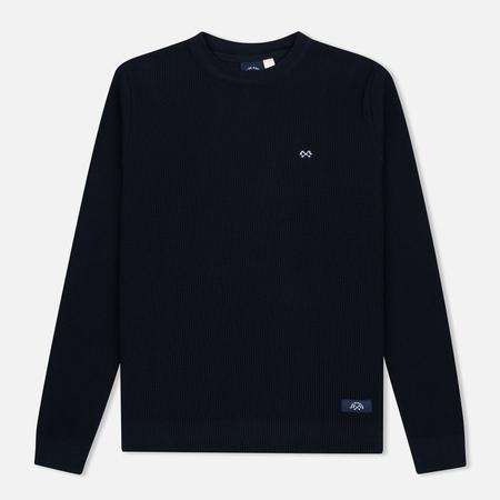 Bleu De Paname Tricot Nid D'Abeille Men's Sweater Marine