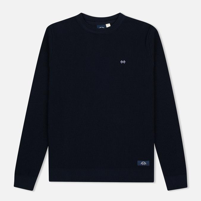 Мужской свитер Bleu De Paname Tricot Nid D'Abeille Marine
