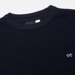 Мужской свитер Bleu De Paname Tricot Nid D'Abeille Marine фото- 2