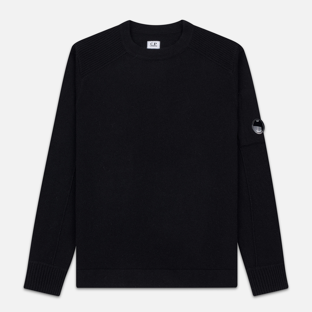 Мужской свитер C.P. Company Crew Neck Lens Pocket Black