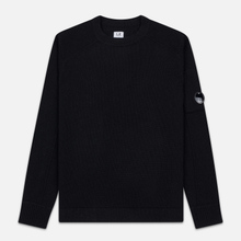 Мужской свитер C.P. Company Crew Neck Lens Pocket Black фото- 0