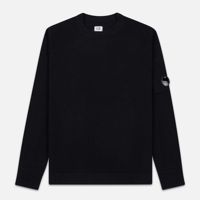 Мужской свитер C.P. Company Crew Neck Lens Pocket Black