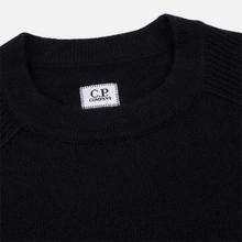 Мужской свитер C.P. Company Crew Neck Lens Pocket Black фото- 1