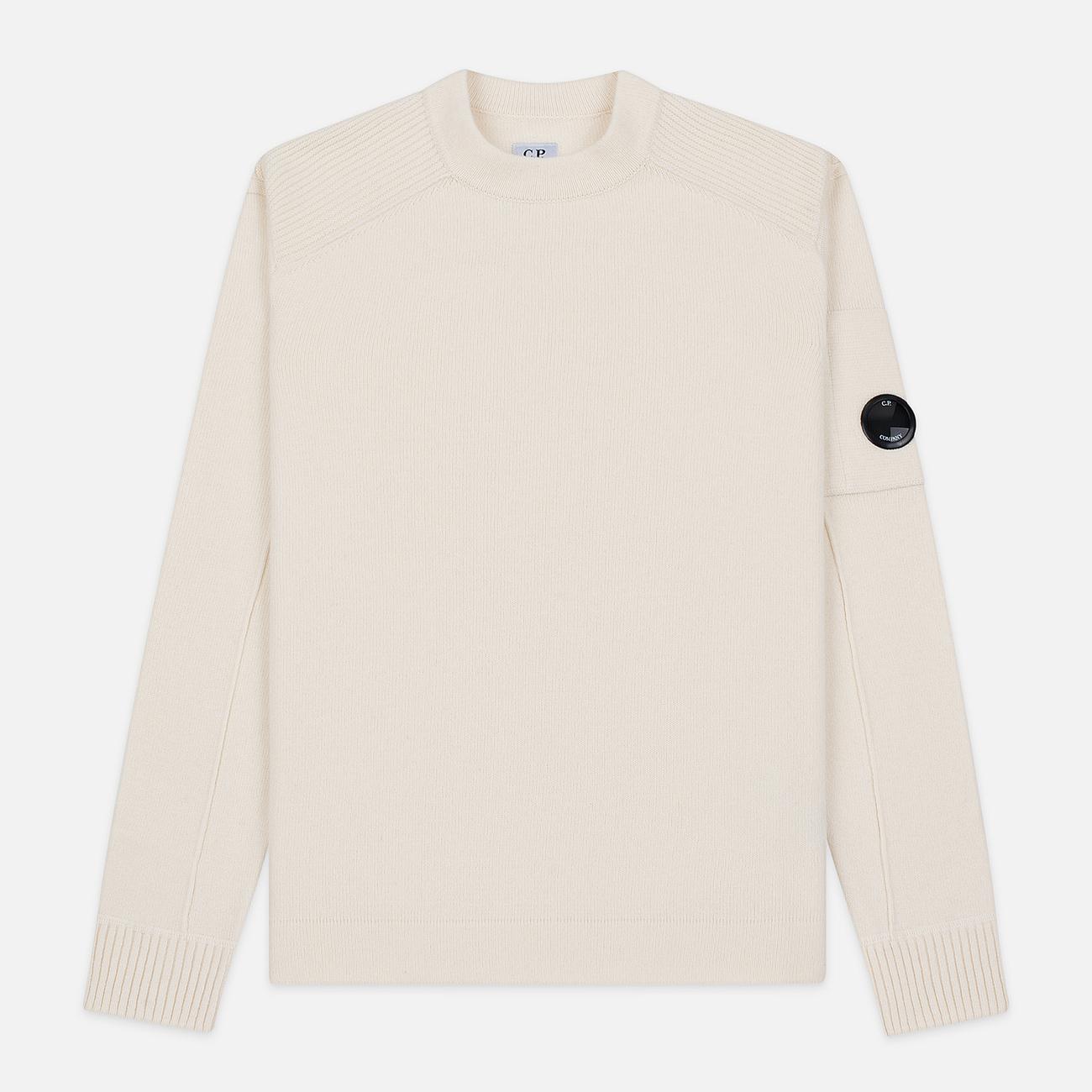 Мужской свитер C.P. Company Crew Neck Lens Pocket Gauze White